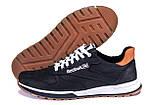 Чоловічі шкіряні кросівки Reebok Classic Leather Black Trail, фото 5
