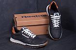 Чоловічі шкіряні кросівки Reebok Classic Leather Black Trail, фото 9