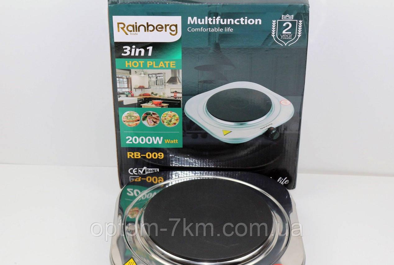 Плита электрическая дисковая нержавеющая одноконфорочная Rainberg RB-009 2000 Вт R