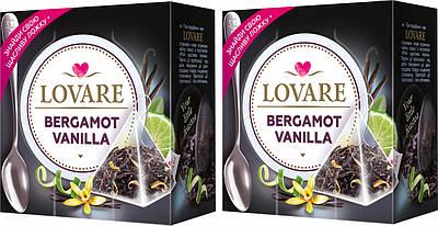 Чай LOVARE Бергамот ваниль ( чёрный ) 15 шт пирамидок + ложка в подарок