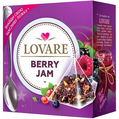 Чай LOVARE Ягодный джем ( фруктовый ) 15 шт пирамидок + ложка в подарок