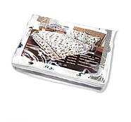 """Двуспальный комплект (Бязь)   Постельное белье от производителя """"Королева Ночи""""   Орнамент полосой на белом, фото 4"""