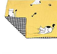 """Полуторный комплект (Бязь)   Постельное белье от производителя """"Королева Ночи""""   Коты на желтом, фото 4"""