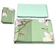 """Двоспальний комплект (Бязь)   Постільна білизна від виробника """"Королева Ночі""""   Квіти на зеленому, фото 3"""