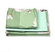 """Евро комплект (Бязь) постельного белья """"Королева Ночи""""   Постельное белье от производителя   Цветы на зелёном, фото 2"""