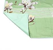 """Евро комплект (Бязь) постельного белья """"Королева Ночи""""   Постельное белье от производителя   Цветы на зелёном, фото 4"""
