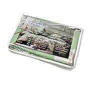 """Евро комплект (Бязь) постельного белья """"Королева Ночи""""   Постельное белье от производителя   Цветы на зелёном, фото 5"""