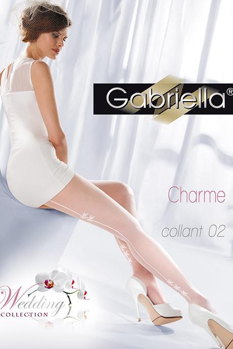 Колготки Gabriella Charme 02 20 den - белый