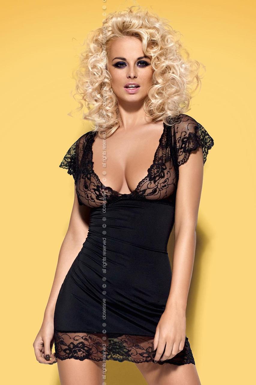 Эротический комплект Obsessive Imperia chemise - черный