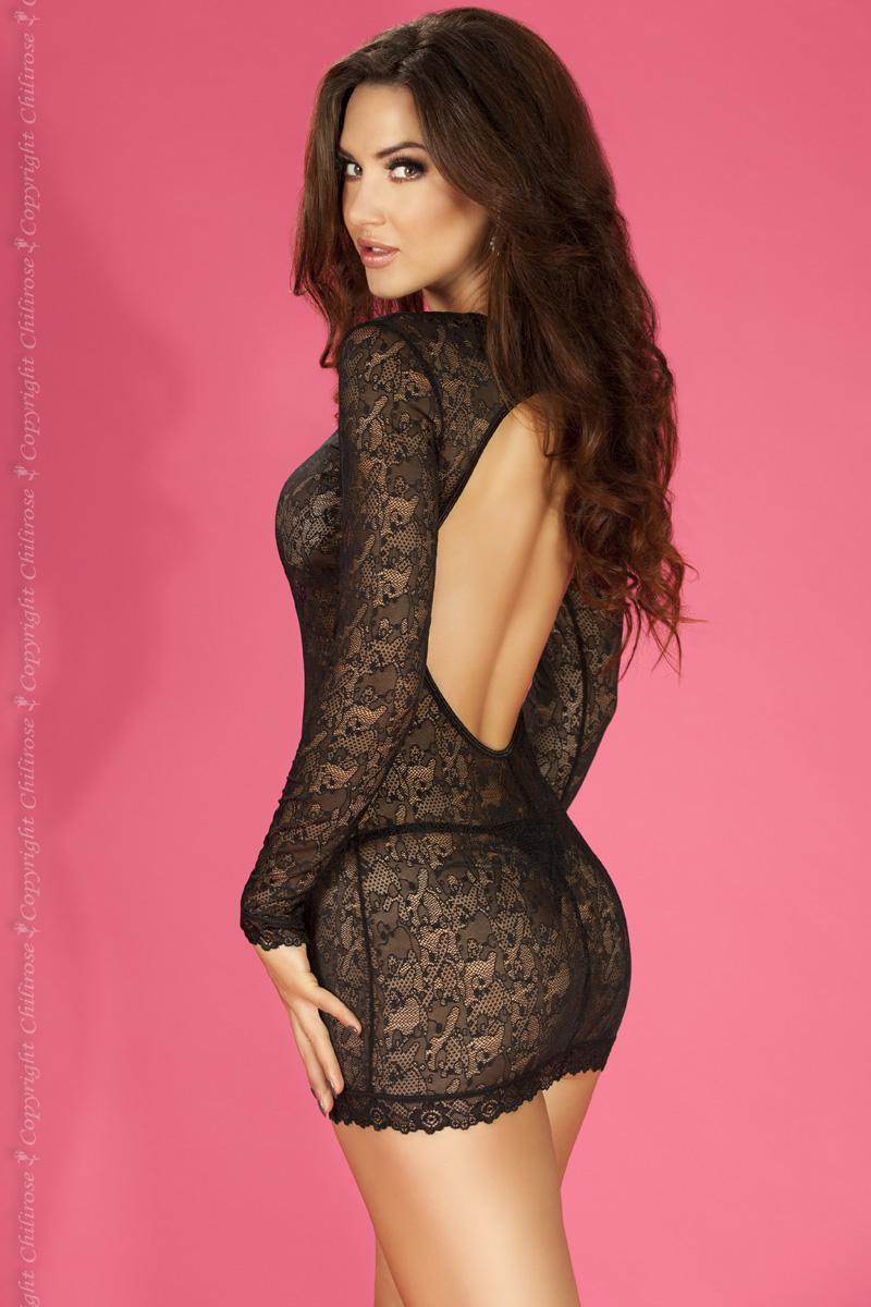 Эротическое платье ChiliRose CR-3670 - черный