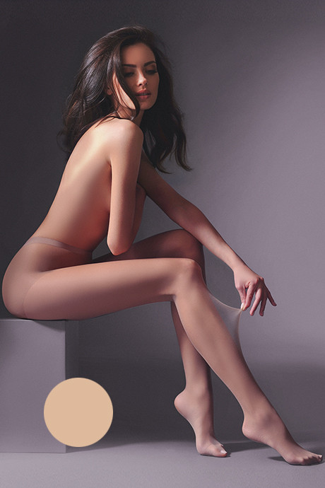 Колготки Gabriella Qualita 20 den - светло-коричневый