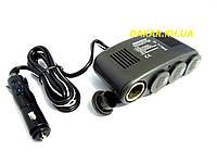 Разветвитель автомобильного прикуривателя 4 в 1 с USB РП13 Белавто, фото 1