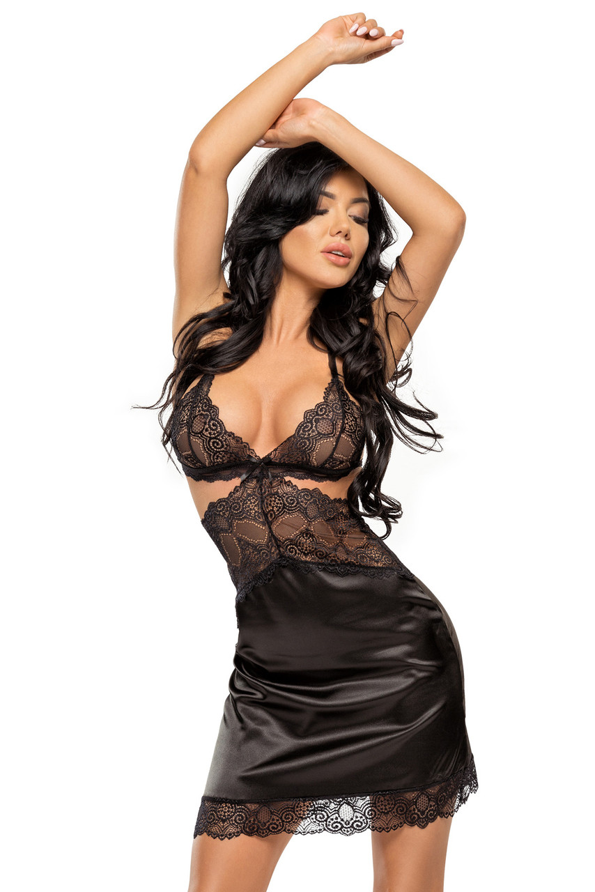 Сорочка Beauty Night  Adelaide chemise - черный