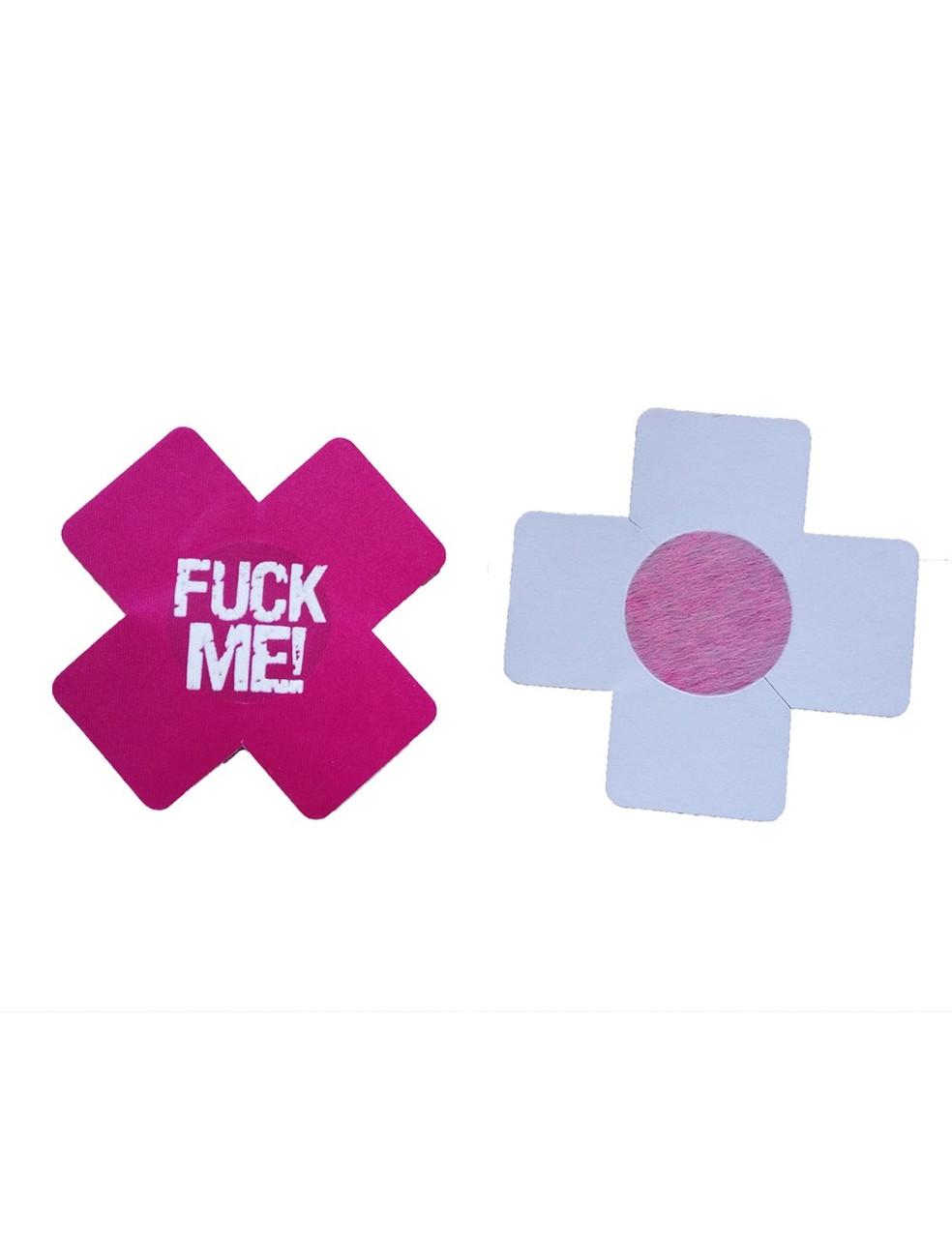 Наклейки для груди Sunspice крестики Fuck Me - розовый