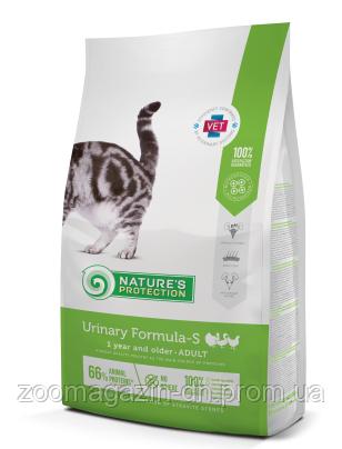 Корм Nature's Protection Urinary Formula-S -  для поддержания здоровья мочеполовой системы котов, 2 kг