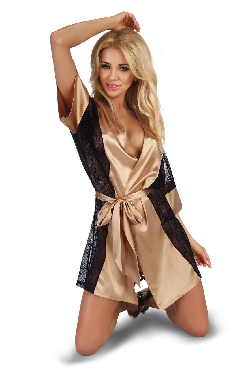 Пеньюар Beauty Night Stephanie robe gold - золотистый