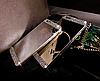 Зеркальный серебряный силиконовый чехол со стразами для Iphone 4/4S