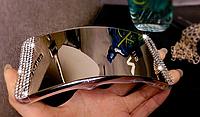 Зеркальный золотой силиконовый чехол со стразами для Iphone 5/5S