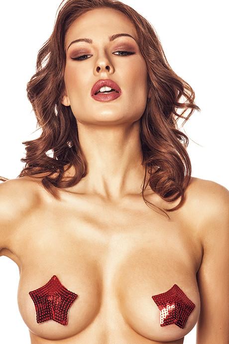 Наклейки для груди Anais Brigi - красный