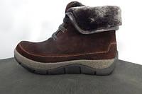 Зимние женские ботинки натуральный замш