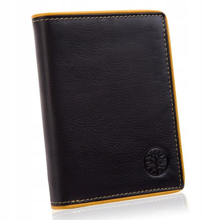 Шкіряний гаманець BETLEWSKI з RFID 12.2 х 9.6 х 2.5 (BPM-DP-62) - чорний