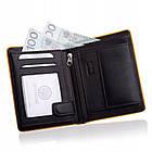 Шкіряний гаманець BETLEWSKI з RFID 12.2 х 9.6 х 2.5 (BPM-DP-62) - чорний, фото 2
