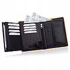 Шкіряний гаманець BETLEWSKI з RFID 12.2 х 9.6 х 2.5 (BPM-DP-62) - чорний, фото 8