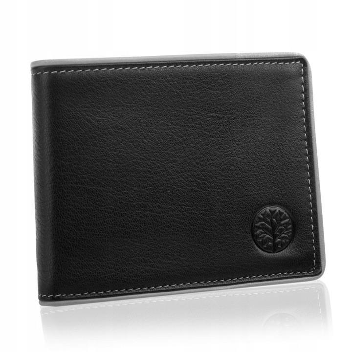 Шкіряний чоловічий гаманець BETLEWSKI з RFID  9,8 х 12,5 х 2,5 (BPM-DP-61) - чорний