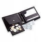Шкіряний чоловічий гаманець BETLEWSKI з RFID  9,8 х 12,5 х 2,5 (BPM-DP-61) - чорний, фото 3