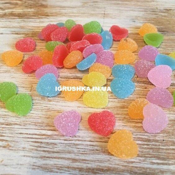 Шарм «Мармеладное серце» для слайма