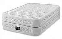 Надувная велюровая кровать Intex 64464/66962 152 х 203 х 51 см Серый