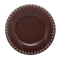 Набор 4 десертных тарелки Bordallo Pinheiro Fantasia 22 см Коричневые (psg_TR-65014354)