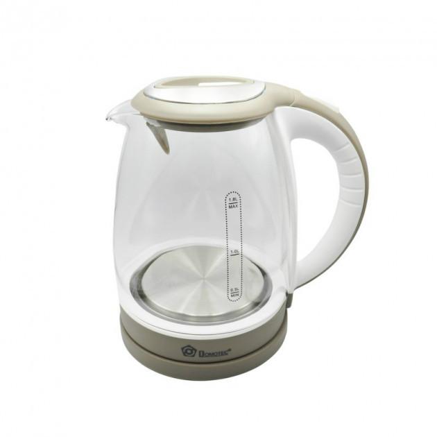 Электрочайник стеклянный Domotec MS-8113 2л | Чайник с подсветкой
