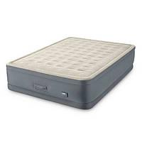 Двуспальная надувная кровать Intex 64926 PremAire Airbed насос 220В USB зарядка LED подсветка (int_64926)