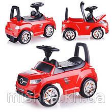 Машина-каталка Master Play (красная), открывается капот, сиденье, светятся фары, муз.руль, в коробке толокар