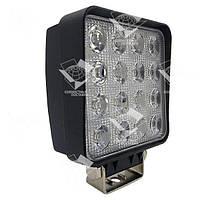 Дополнительная светодиодная фара точечного (дальнего) света 48W/30 квадратная 10-30V, фото 1