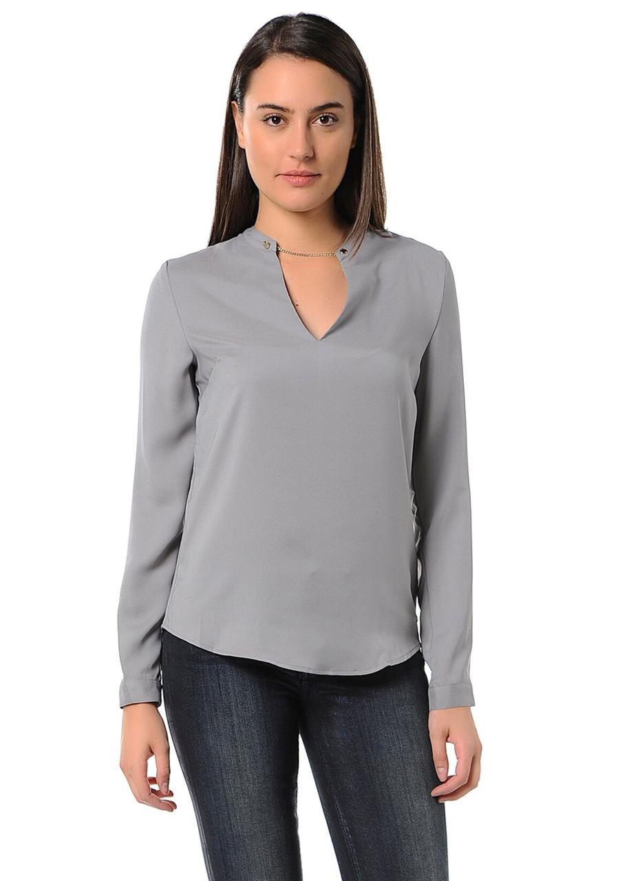 Блуза женская TOMMY HILFIGER цвет светло-серый размер S арт 1M87647955-73