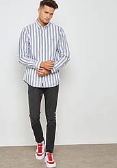 Рубашка мужская TOMMY HILFIGER цвет серо-белый размер M арт MW0MW08469-904