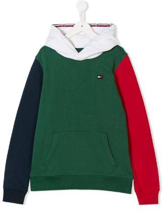 Толстовка детская TOMMY HILFIGER цвет зелено-синий-белый размер 8 арт KB0KB04236 2