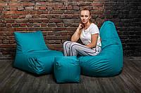 Набор безкаркасной мебели (кресло мешок, диван, пуф) XL