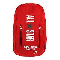 Рюкзак городской Can Vas Все звезды Нью Йорк Бостон All Star New York 17 Boston 47х31х17 см Красный (23384)