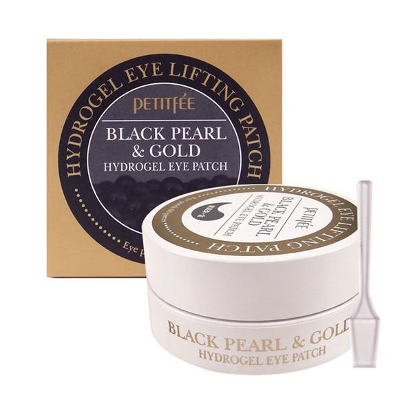 Гидрогелевые патчи для глаз с золотом и черным жемчугом Gold Black Pearl&Gold Hydrogel Eye Patch 60 штук (G0102)  - купить со скидкой