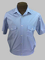 Форменная рубашка голубая ( синяя ) на короткий рукав