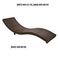 Шезлонг Змей Ли коричневый, Лежак - мебель для бассейна, мебель для сада, мебель для отдыха