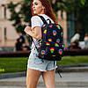 Крутий жіночий рюкзак з принтом Губи. Для навчання, подорожей, тренувань, фото 2
