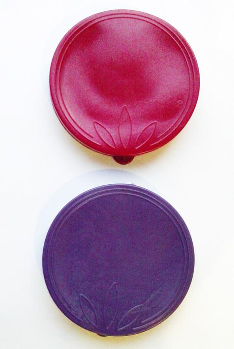 """Крышка на банку хозяйственную, разных цветов, полиэтиленовая """"лист"""", Ø85, H10"""