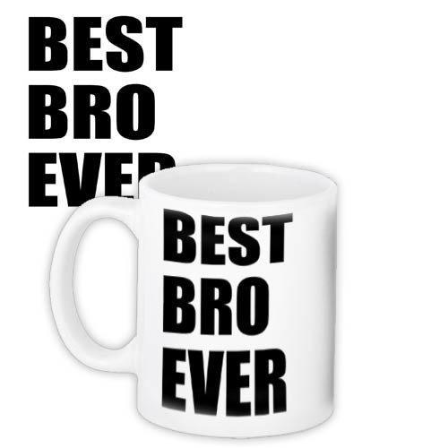 Чашка Кружка с принтом City-A 330 мл. Best ever bro Брату