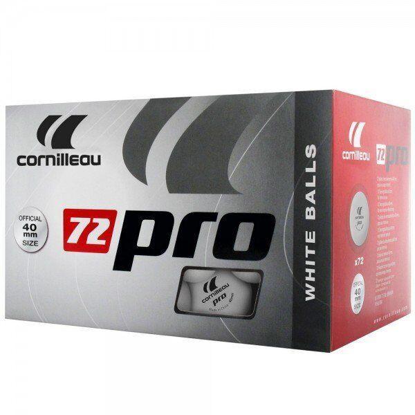 Шарики для настольного тенниса Cornilleau X72 Pro (белые), Белый
