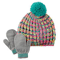"Детский комплект (шапка, варежки)  ""Multi"" Carters"