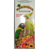 "Колосок для хвилястих папуг Природа, коктейль ""Чумиза, гібіскус, кокос"", 3х30г"